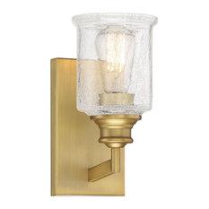 Hampton Warm Brass, 1-Light Bath