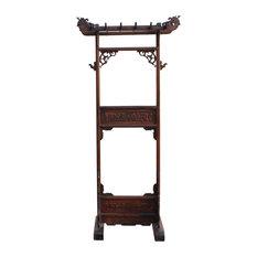 Handmade Chinese Rosewood Dragon Garment Rack Hanger Hcs5484