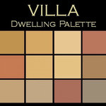 """Benjamin Moore® Paint colors - Color in Space Villa Palette™--rich & earthy - Each palette consists of twelve Benjamin Moore® paint colors in 4"""" swatches and no colors are repeated. The intentional selection of the twelve colors ensures that they are energetically balanced and will create the feeling of the dwelling for which it is named."""