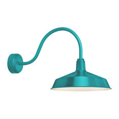"Standard Wall Sconce, Tahitian Teal, 23"" Arm"