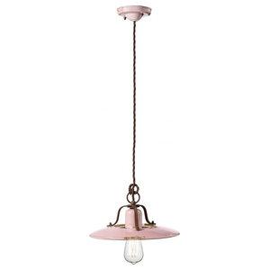 Saturno Ceiling Pendant, 1 Light, Medium, Pink