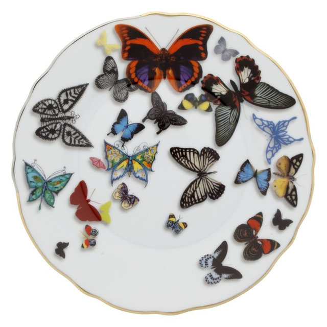 Christian Lacroix Butterfly Parade BandB Plate  sc 1 st  Houzz & Christian Lacroix Butterfly Parade BandB Plate - Eclectic ...