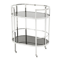 Eichholtz Townhouse Bar Cart, Polished Stainless Steel