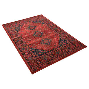 Kashqai Red Rectangular Traditional Rug, 160x240 cm