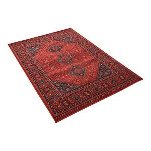 Kashqai Red Rectangular Traditional Rug, 160x240 cm