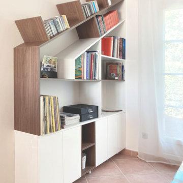 Bureau / Bibliothèque sur-mesure