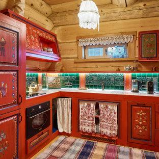 Источник вдохновения для домашнего уюта: кухня в стиле рустика