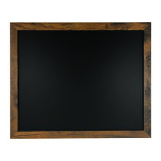 "Rustic Wood Premium Surface Magnetic Chalk Board, 18""x22"""