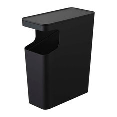 Tower Side Table & Trash Can Black