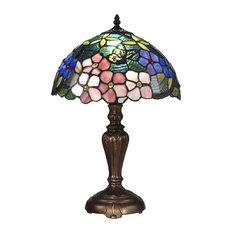 Fox Peony Tiffany Table Lamp