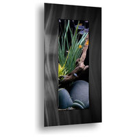 Aussie Aquariums 2.0 Wall Mounted Aquarium - Verticali Brushed Black