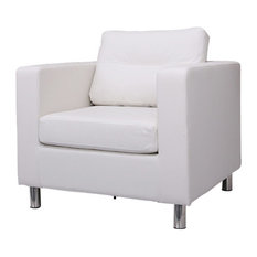 Gold Sparrow   Detroit Arm Chair, White   Armchairs And Accent Chairs