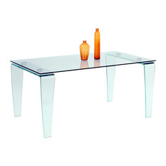 Modern Dining Table, Clear