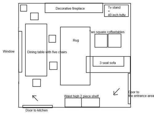 Wondrous Furniture Arrangement In A Square Living Room Evergreenethics Interior Chair Design Evergreenethicsorg