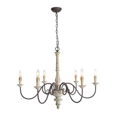 LNC 6-Light  French Country Chandelier Lighting Rustic Pendant Lights