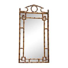 Bamboo Mirror, Antique Gold