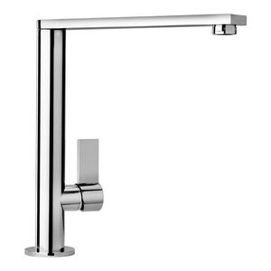 Piralla Dax Single Lever Flat Spout Kitchen Tap, Chrome