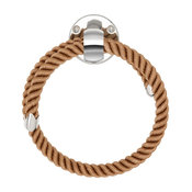 Nautiluxe Collection Nautical Towel Ring, Natural Rope and Chrome