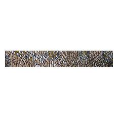 "Mozaico - Abstract Shades, Modern Wall Insert, 14""x91"" - Tile Murals"