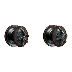 Coral Cabinet Knob, Polished Brass Unlacquered