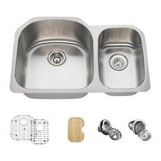 3121 Offset Stainless Steel Kitchen Sink, 16-Gauge, Wide Left, Ensemble