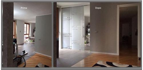 divisione tra cucina e soggiorno