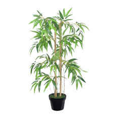 "vidaXL - VidaXL Artificial Bamboo Plant ""Twiggy"" With Pot, 90 cm - Artificial Plants and Trees"