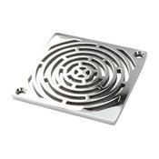 Geometric Maze Shower Drain For Schluter-Kerdi, Polished Stainless Steel
