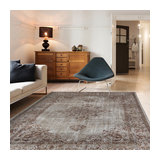 KHAYMA Fairfield 8667 Cacao Grey Brown Rectangle Modern Rug 140x200cm
