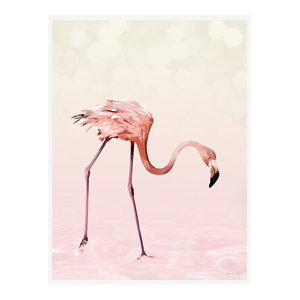 """Flamingo For It"" Animal Art Print, Print Only, 50x70 cm"