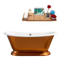 "66"" Cast Iron R5340CH Soaking freestanding Tub With External Drain"