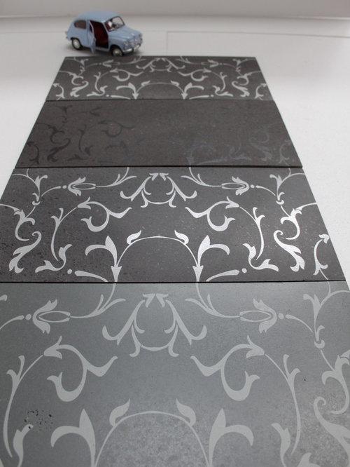 Lava Stone Tile : Glazed natural lava stone tiles
