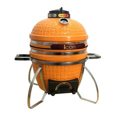 icon 101 Series Kamado Table Top Grill, Orange, With Electric Conversion Kit