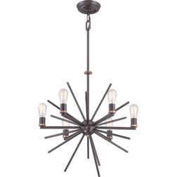 Perfect Midcentury Chandeliers by Quoizel