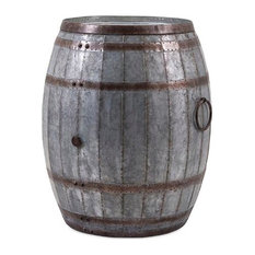 Benzara, Woodland Imprts, The Urban Port   Vineyard Wine Barrel Storage  Table   Outdoor