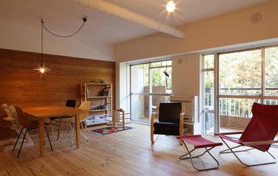 Houzzツアー:まるで公園が庭のような、すべての部屋から緑が望める家
