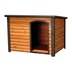 "Large 45"" Outdoor Solid Wood Dog House With Raised Floor"