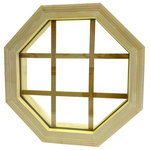 """AWSCO - Wood Mitered Octagon Window, 21.5x21.5 - Add Beauty and Design to your house, like No other Window can! Little elements make the Biggest Difference! This AWSCO Accent Window offers Solid-Wood components with glued Mitered joints. Standard is 2"""" Brick-Mould Exterior Construction. Includes standard double plane 7/8"""" insulated glass and 4 9/16 jamb. Exterior is Solid-Wood (to prime and paint or stain) and Wood (stainable) interior with interior stainable Removable Grille."""