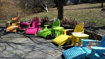 Painted Pine Adriondack Chairs