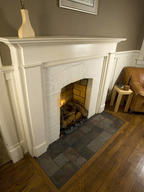 Tile Fireplace Hearth Houzz
