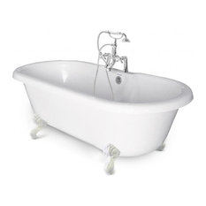Chelsea Collection Double Ended Tub, White Feet