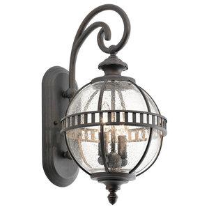 Traditional 2-Light Wall Lantern, Bronze