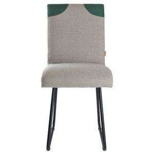 Upholstered Backrest Detail Chair, Grey