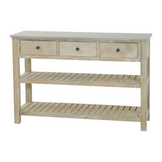 Sarah Slatted Shelf Console Table