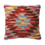 Aztec Rainbow Cushion, Red, Cover Only