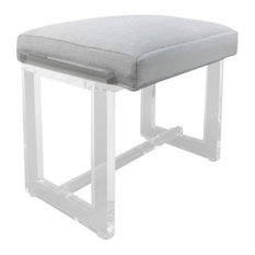 plasticmart vanity stool gray fabric vanity stools and benches