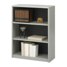 Safco Value Mate Bookcase, Fiberboard, Plastic, 3-Shelf, Gray