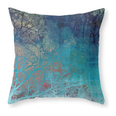 society6 on the verge of blue throw pillow decorative pillows