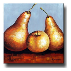 """Golden Pears, Wall Tapestry, 32""""x32"""""""