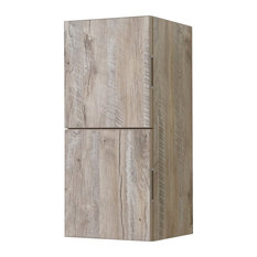 "Bliss 12""W x 24""H Linen Side Cabinet, 2 Doors, Nature Wood Finish, Nature Wood"